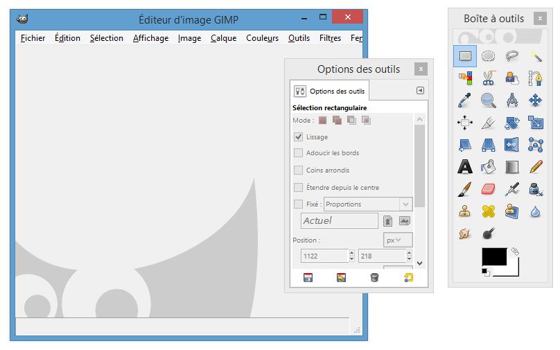 Recadrer une image gratuitement avec gimp design web par for Afficher fenetre calque gimp