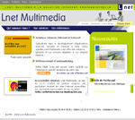 Screenshot de la page d'accueil du site LNET MULTIMEDIA